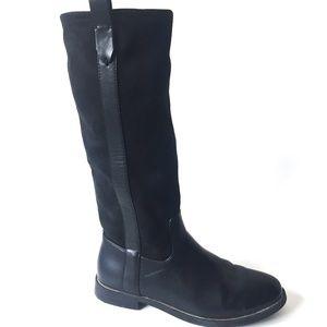 ZARA GIRLS Knee High Black Boots Size 34 3281